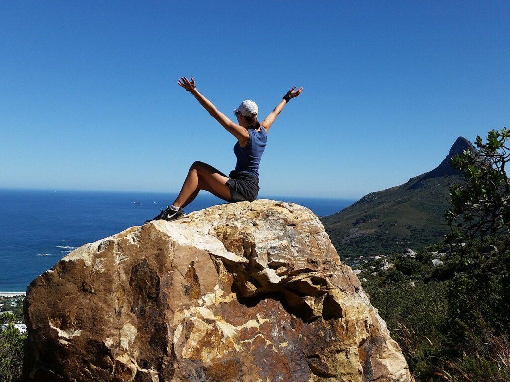 girl, freedom, climbing
